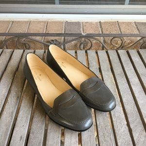 Kate Spade Olympia Charcoal Leather Penny Losfers